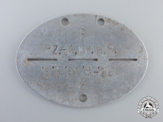 A Hermann Göring Panzer Regiment Identification Tag (Erkennungsmarke)