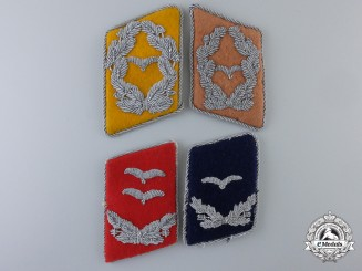 Four Single Luftwaffe Collar Tabs