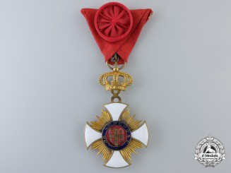 A French Made Serbian Order of Kara-George; Fourth Class Officer