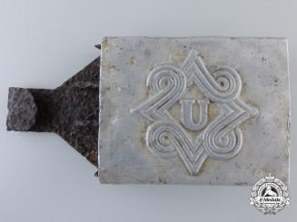 Croatia, Independent State. An Elite Ustasha Unit PTB Belt Buckle; Recovered Example