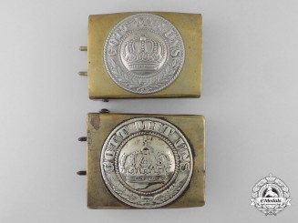 Two Prussian Belt Buckles