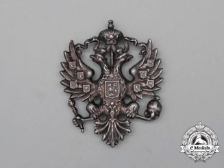 A Russian Imperial Army Officer's Cap Badge
