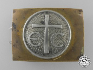 An Unusual German Religious Organization Buckle; Published Example