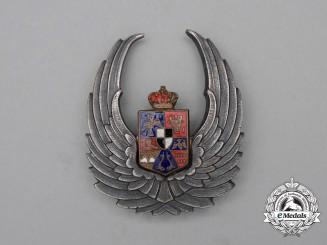 A Second War Romanian Air Force Observer's Badge (1940-1945)