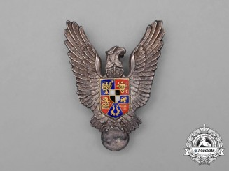 A Second War Romanian Air Force Pilot's Badge in Silver