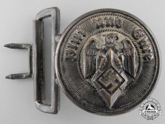 An HJ Leader's Brocade Belt Buckle by Christian Theodor Dicke