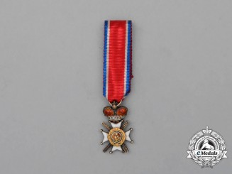 A Miniature Serbian Order of the Cross of Takovo