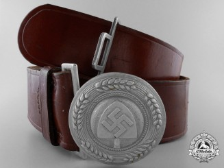 A RAD Officer's Belt and Buckle by Overhoff & Cie. Lüdenscheid