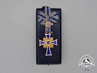 A Cased Gold Grade Cross of Honour of the German Mother by Deumer