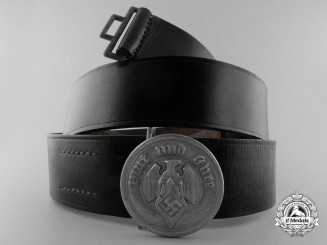 A HJ Leaders Belt and Buckle by Eugen Schmiedhausler