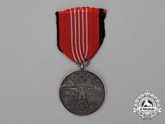 A 1936 XI Summer Olympics Games Commemorative Service Medal