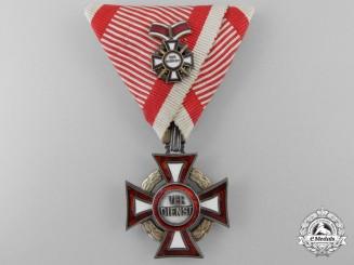 An Austrian Military Merit Cross Third Class with War Decoration