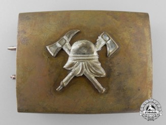 Germany, Weimar Republic. A Pre-1934 Fire Defence Enlisted Man's Belt Buckle