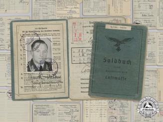 A Soldbuch for a Luftwaffe Flak Hauptwachtmeister; Lappland Shield