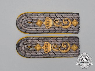 A Set of Prussian 3rd Regiment Queen Elizabeth Grenadier Guards Shoulder Boards