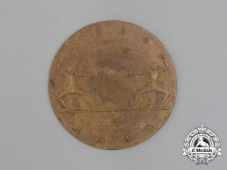 A 1930 50-Year Anniversary of the German Fencing Association Group III Table Medal