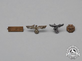 Four Second War German Medal Ribbon Bar Miniatures Awards