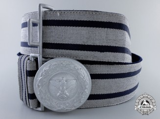 Germany. A Diplomatic Official Brocade Belt and Buckle