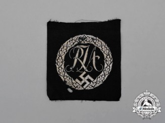 An RJA (Reichs Youth Sport League) Proficiency Badge; Cloth Version