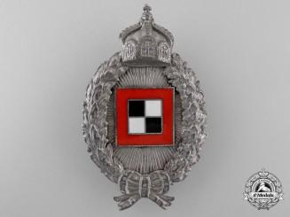 A First War Prussian Oberser's Badge Named to Käle Brückner