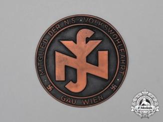 A Third Reich Period Austrian (Vienna) NSV Membership Plaque