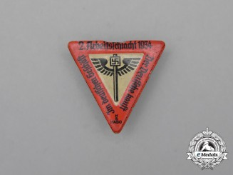 "A 1934 NS-Hago 2nd Labour-Battle ""The German only shops at German Stores"" Badge"