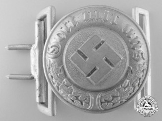 A German Police Officer's Belt Buckle by Overhoff & Cie, Ludenscheid