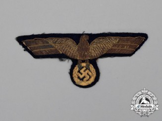 A Kriegsmarine Officer's Bullion Tunic Eagle