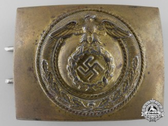 Germany, SA. An Enlisted Belt Buckle; RZM Marked