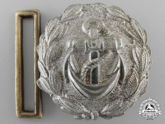 A Kriegsmarine Administrative Officer's Undress Belt Buckle; Published Example