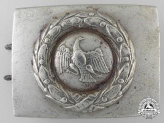 A 1927 Prussian State Police Enlisted Belt Buckle by Bernh Haarmann