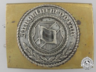A National Banner Youth belt Buckle; Published Example