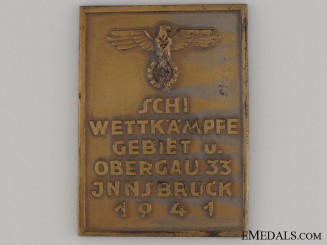 HJ Area Ski Competition Innsbruck 1941 Award