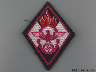 HJ Fire Defence Sleeve Cloth Badge