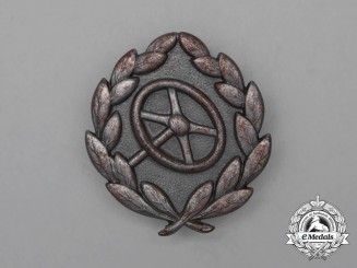 A Second War German Silver Grade Driver's Proficiency Badge