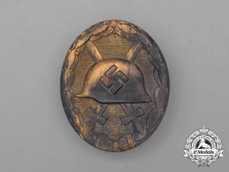 A Second War German Gold Grade Wound Badge by B. H. Mayer of Pforzheim