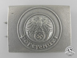 A Enlisted German National Postal Service Belt Buckle; Published Example