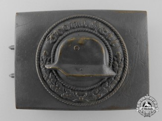 A Field Grey Stahlhelm Veteran's Organisation Belt Buckle