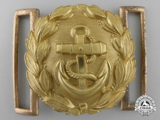 A Kriegsmarine Line Officer's Belt Buckle by Emil Juttner