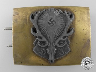 A German Hunting Association (Deutschen Jägerschaft) Belt Buckle