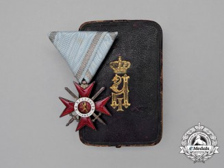 A Bulgarian Military Order for Bravery; 4th Class Knight's Breast Badge