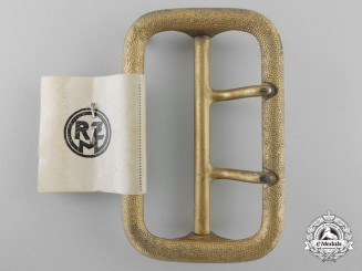 Germany. A Political Leader's Open Claw Buckle, RZM Control Tag