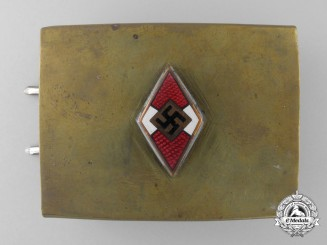 An HJ Belt Buckle with Enamels