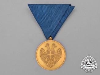 A Serbian Zeal Medal Gold Class 1913