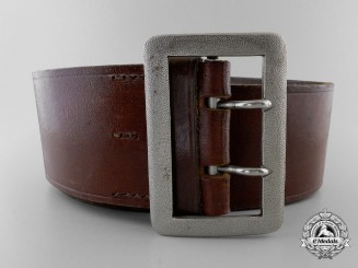 An Army Double Open Claw Buckle & Belt by Overhoff & Cie, Ludenscheid