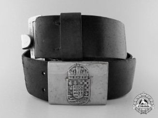 A Second War Hungarian Army Belt Buckle