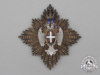 A Serbian Order of White Eagle; 2nd Class Breast Star by Arthus Bertrand of Paris