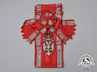 A Serbian Order of the White Eagle; Grand Cross with Swords by Huguenin Frères