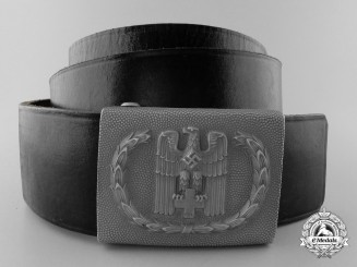 A Red Cross Enlisted Man's Belt with Buckle; 1938 Pattern