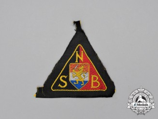 An Unissued NSB National Socialist Movement in the Netherlands Black Shirt Sleeve Patch